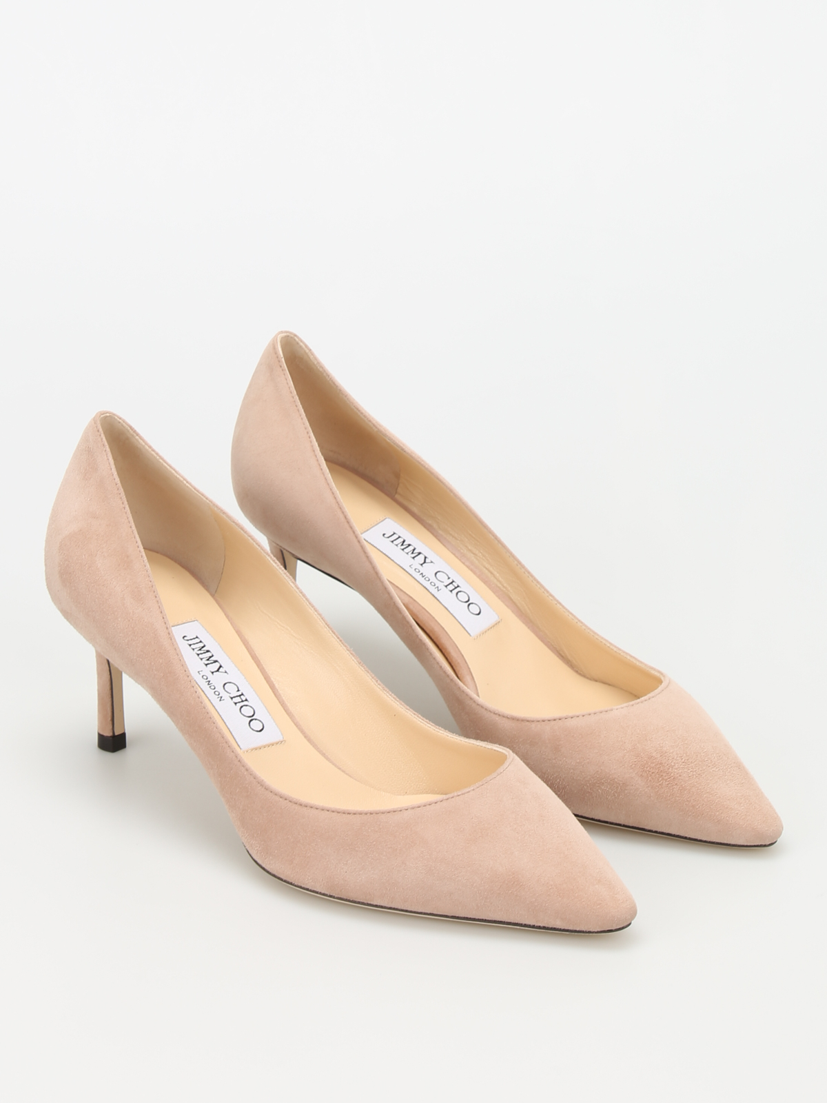 2b89f6f35 Jimmy Choo - Romy 60 suede pumps - court shoes - ROMY60SUEBALLETPINK
