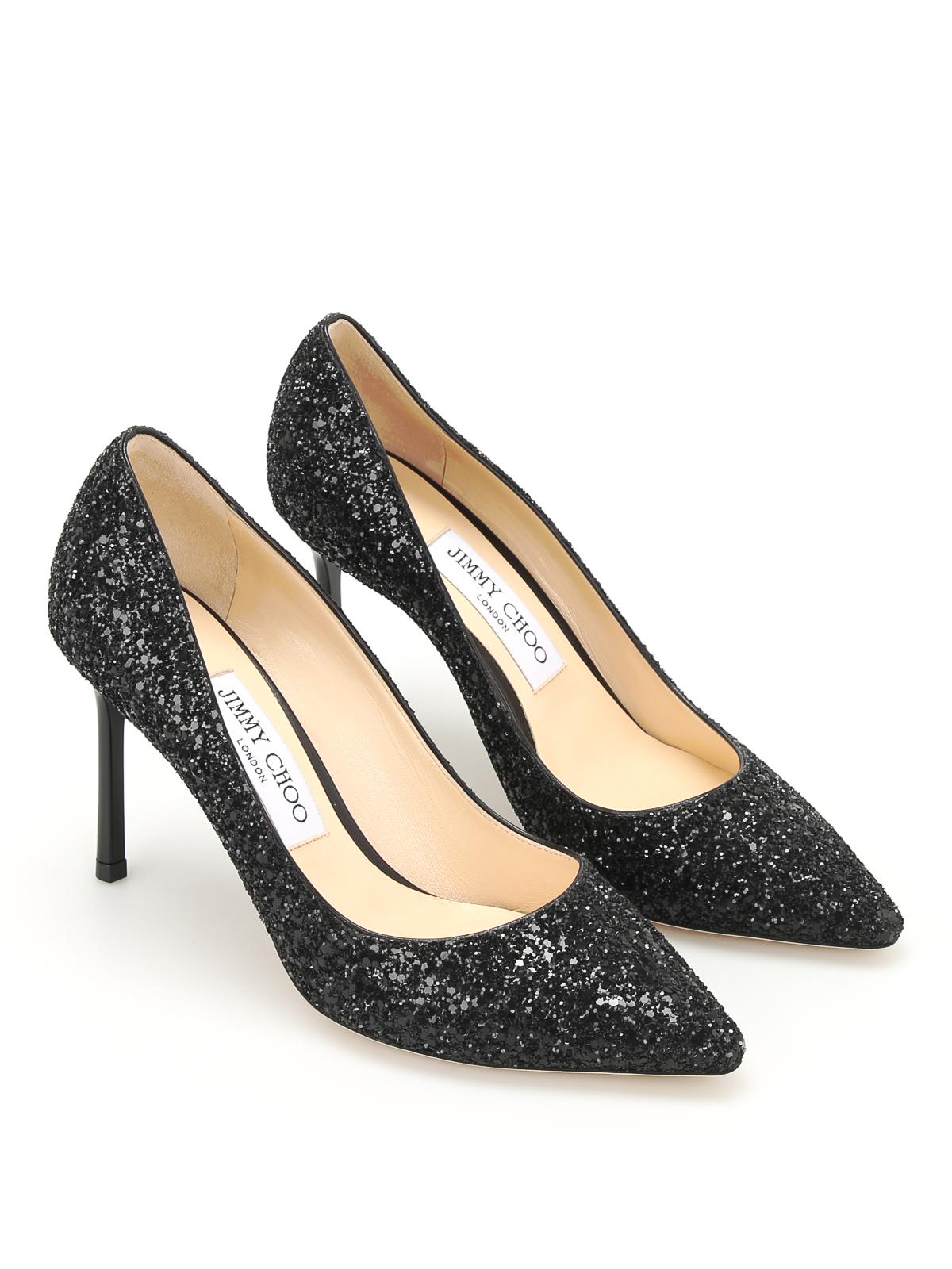 a78c9f7769509 Jimmy Choo - Romy glitter sensual pumps - court shoes - ROMY 85 CGF ...
