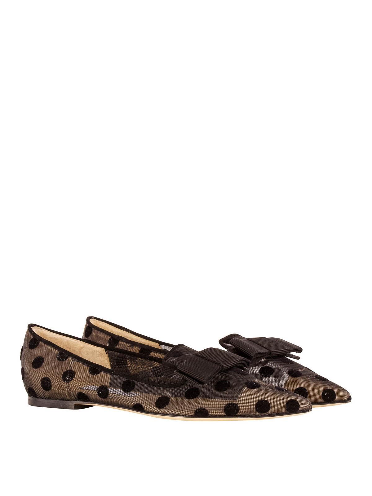 Jimmy Choo - Gala polka dot flat shoes