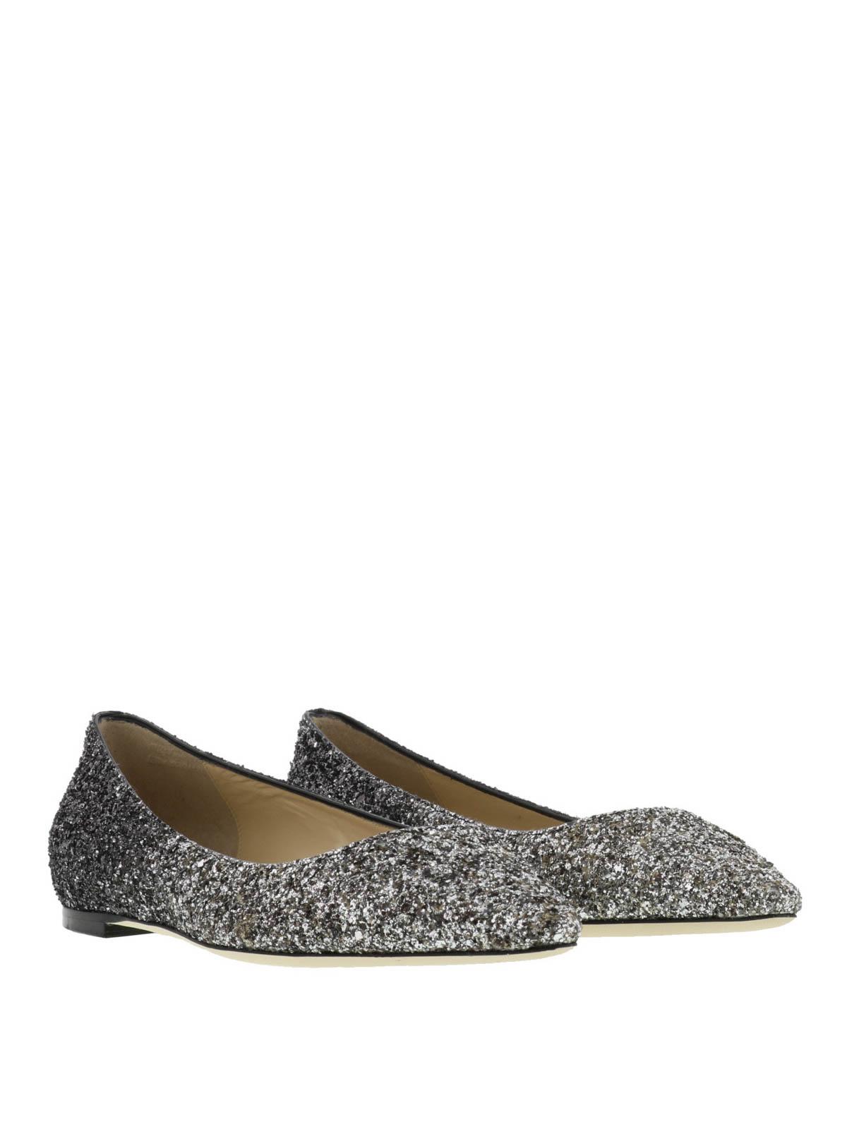 7a7ad5988873 JIMMY CHOO  flat shoes online - Romy faded glitter ballerinas