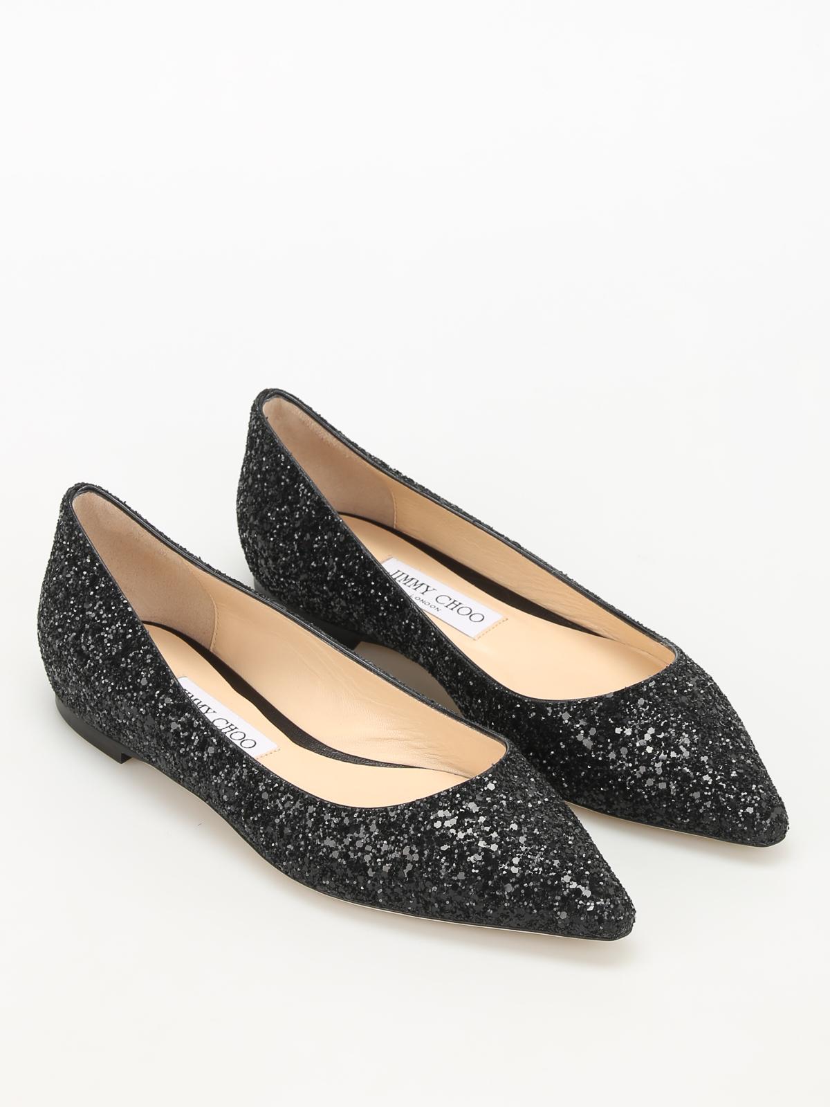2f2798c5e970 Jimmy Choo - Romy faded glitter ballerinas - flat shoes - ROMY FLAT ...