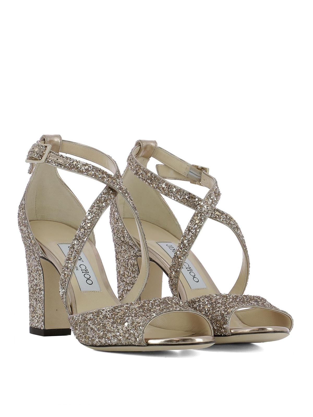 Jimmy Choo - Carrie 85 glitter sandals