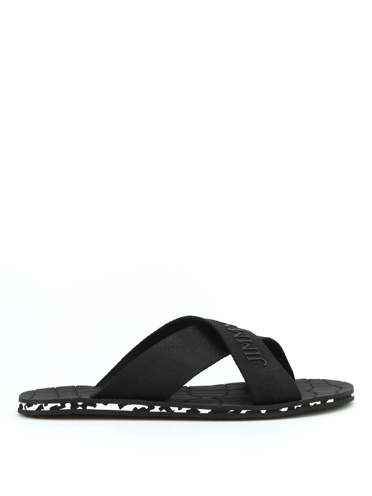 0e0576cf2c79 Jimmy Choo - Clive grosgrain sandals - sandals - CLIVE GGU BLACK