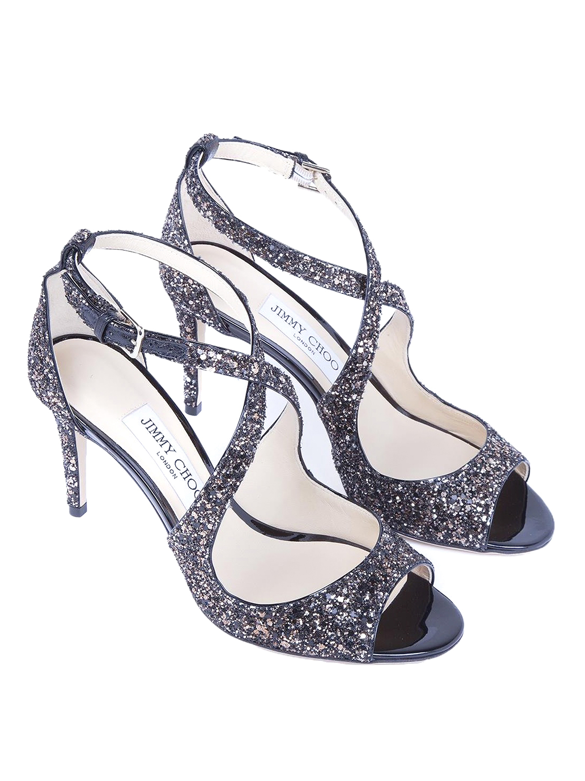 57bb9af6d01e6 JIMMY CHOO  sandals online - Emily 85 glitter peep-toe sandals