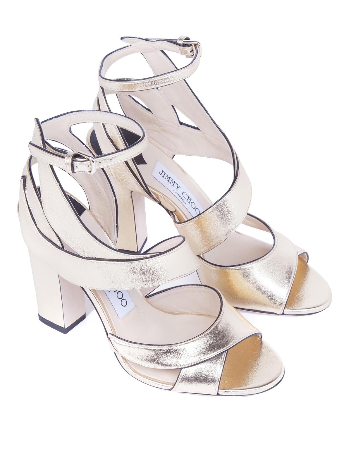 1217b765595 JIMMY CHOO  sandals online - Falcon 100 mirror leather sandals