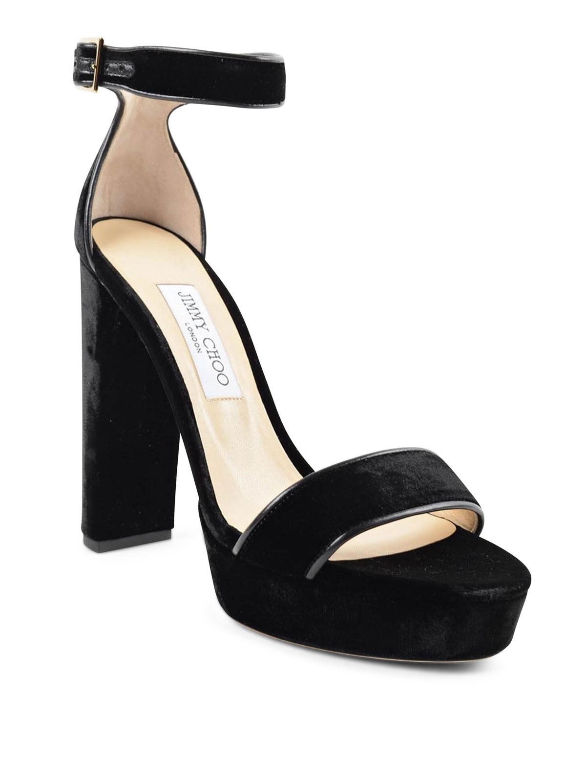 Jimmy Choo - Holly 120 velvet sandals