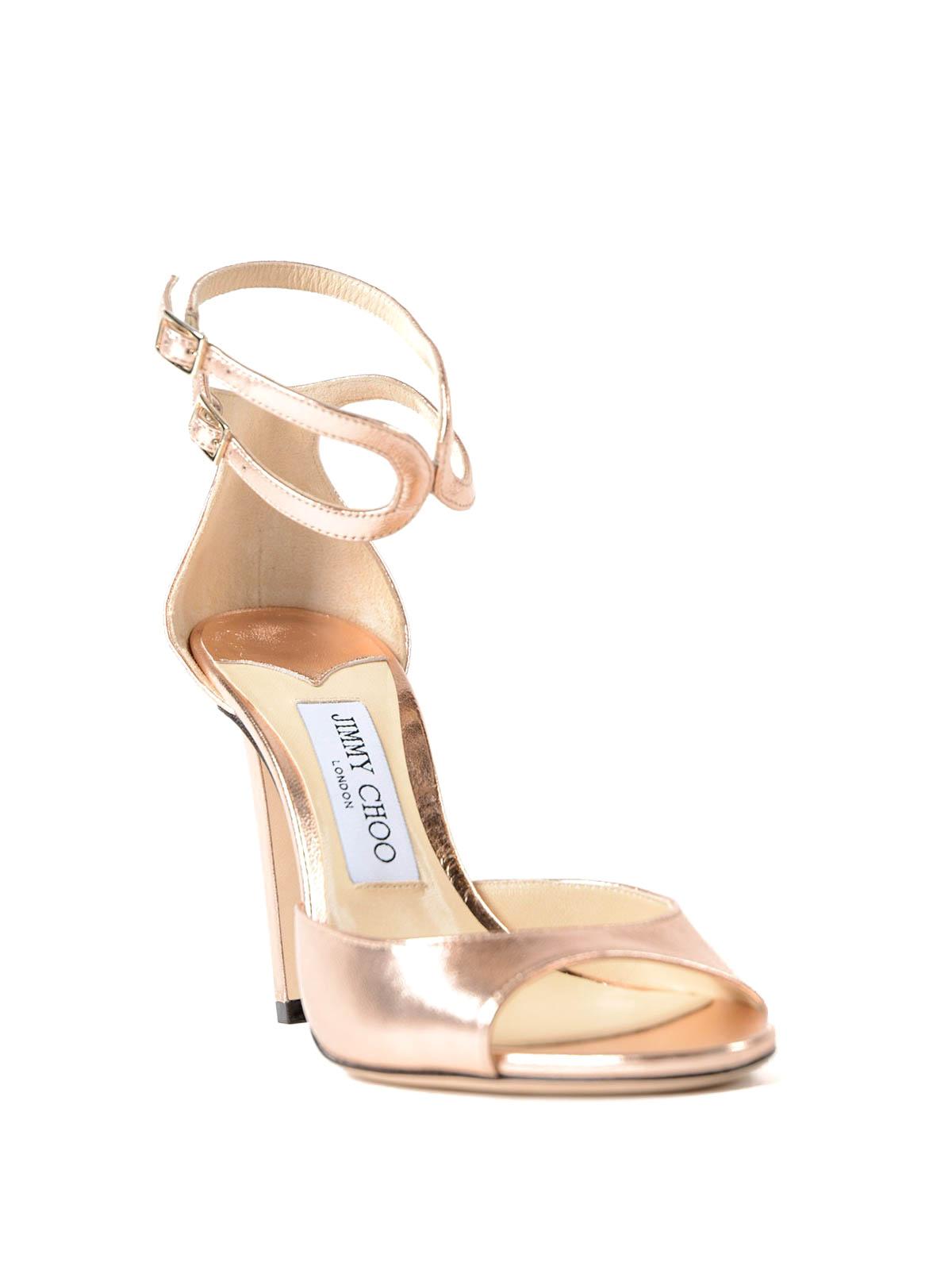 9516c485db2 Jimmy Choo - Lane 100 leather sandals - sandals - LANE100MEATEA
