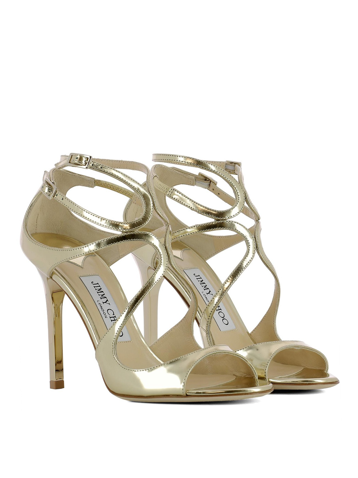aed6e53fdbe6 Jimmy Choo - Lang leather sandals - sandals - LANGMLE GOLD
