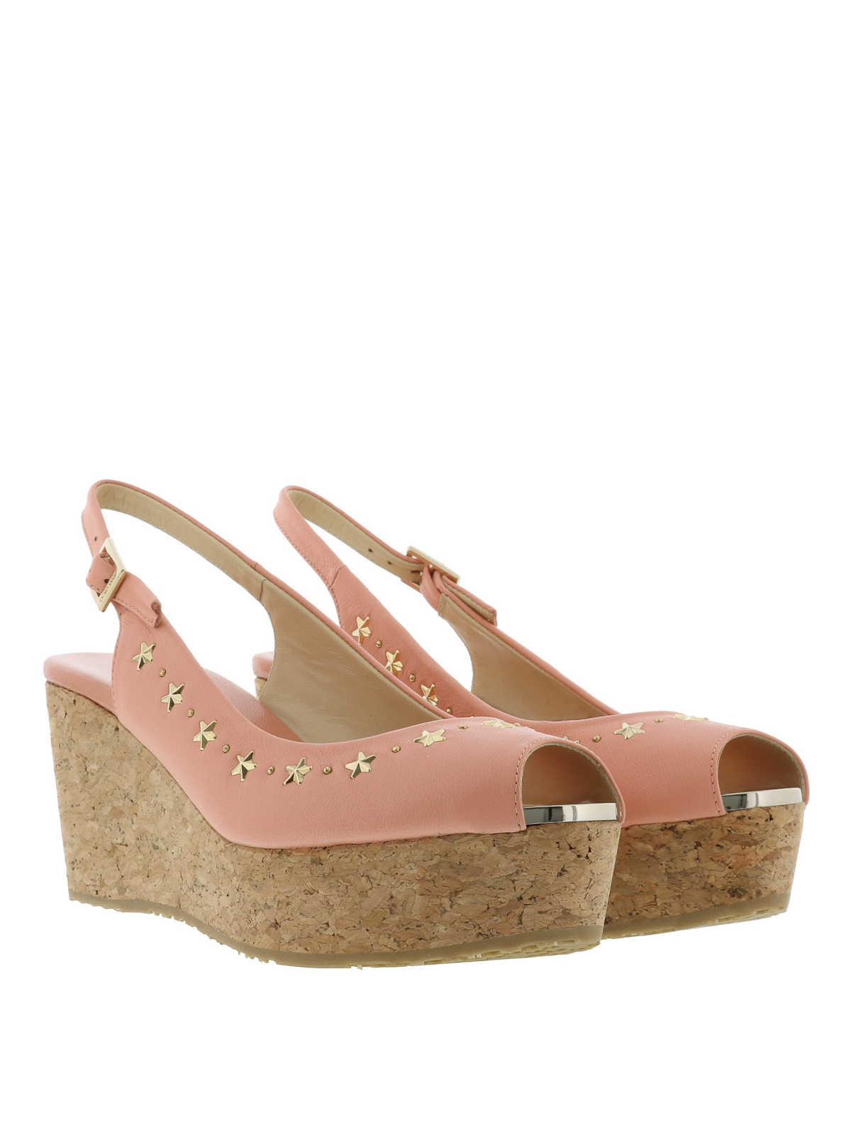 bdc4cab3f60 Jimmy Choo - Praise cork and leather wedges - sandals - PRAISE NAS ...