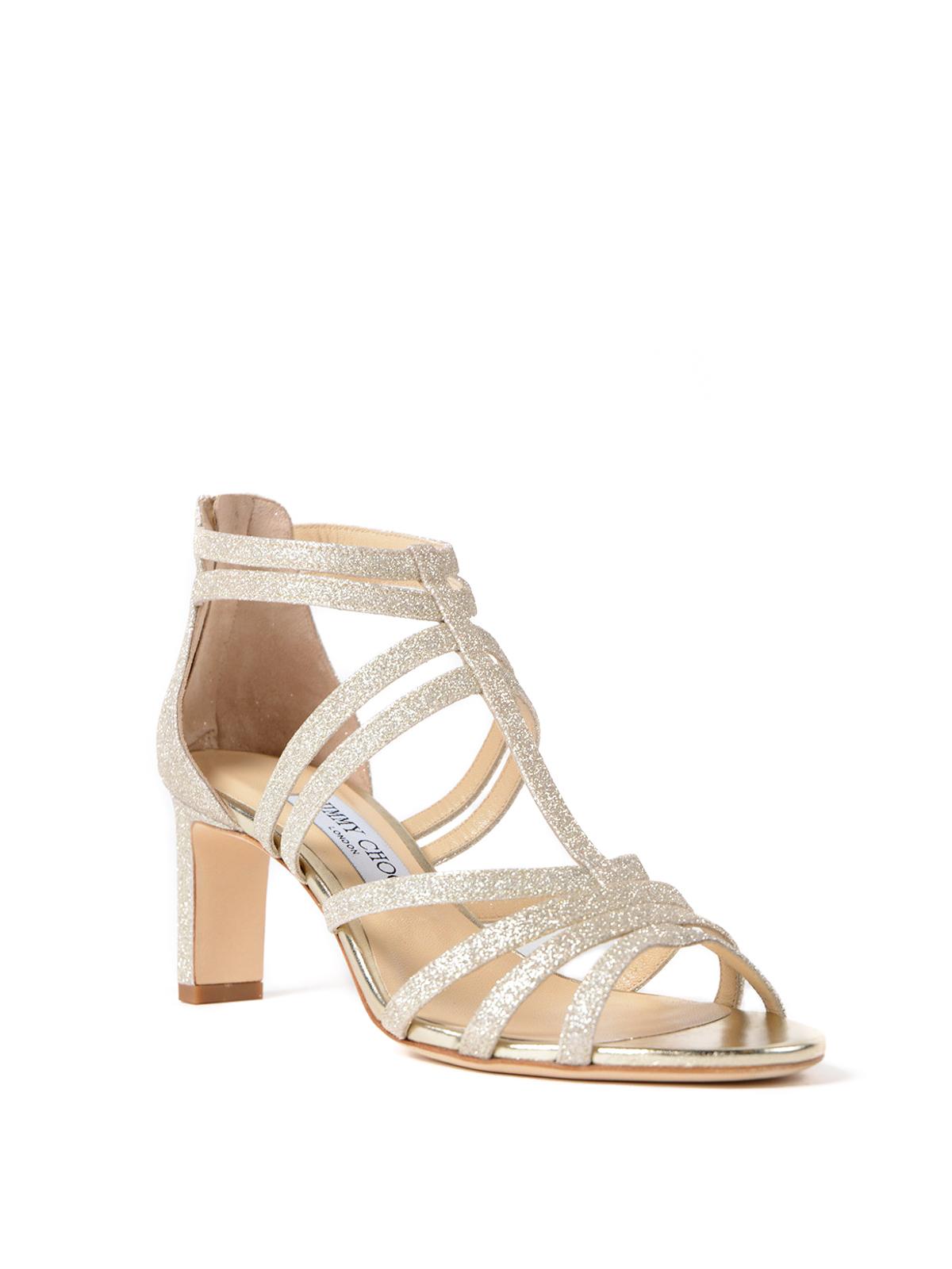 cf4af5dfac0 Jimmy Choo - Selina 65 dusty glitter sandals - sandals - SELINA65DGZ