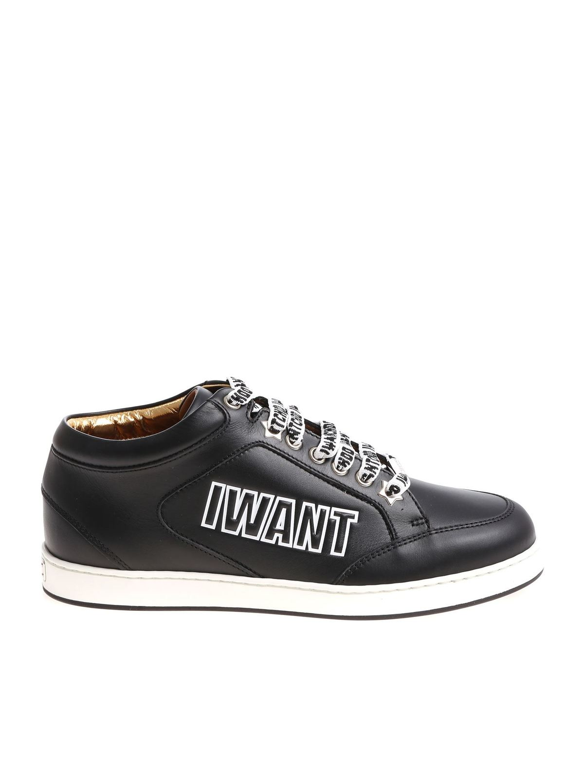 Black Miami sneakers with branded laces
