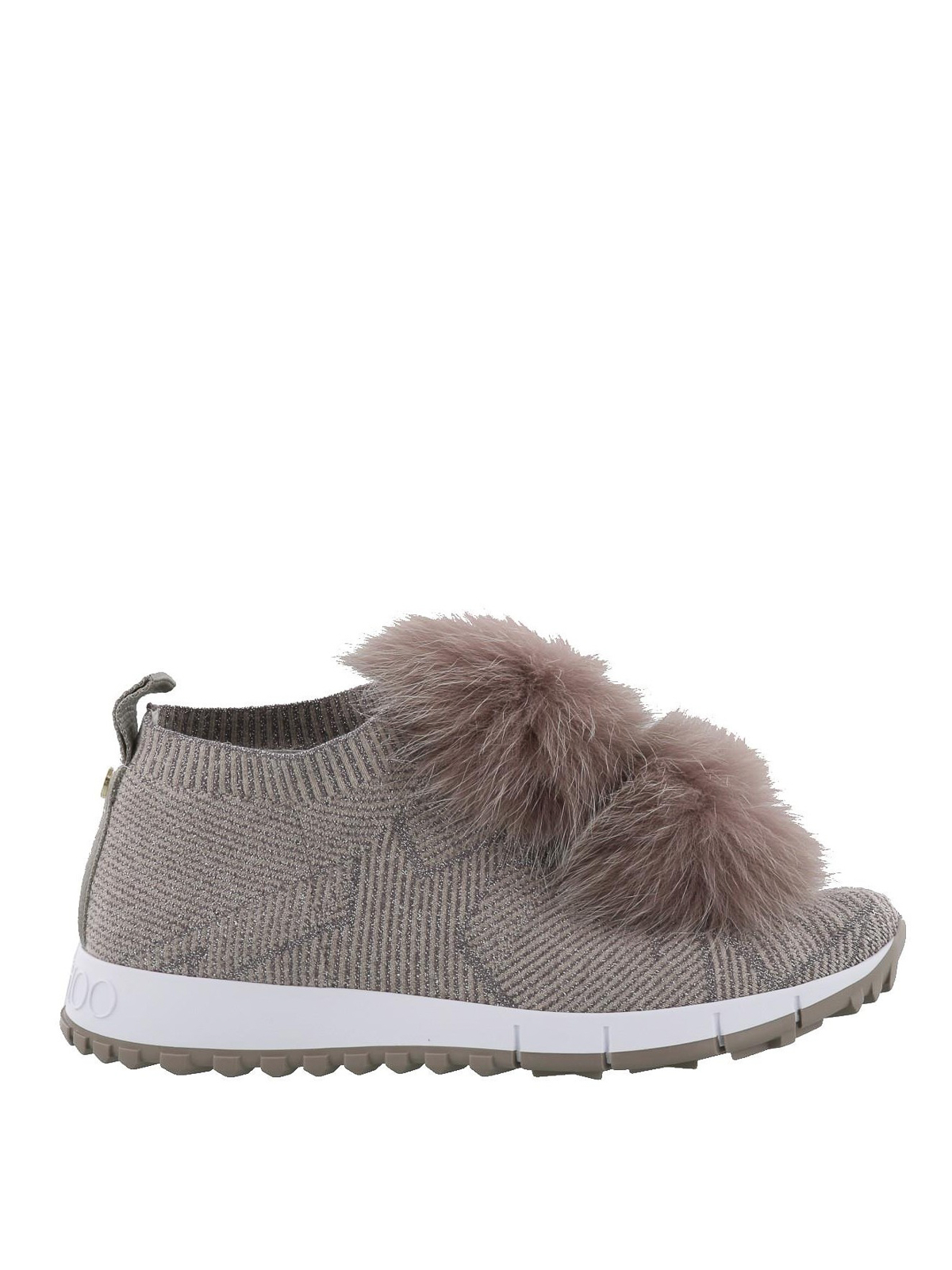 24b9b861ab95 Jimmy Choo - Norway fox fur pompom slip-on shoes - trainers ...