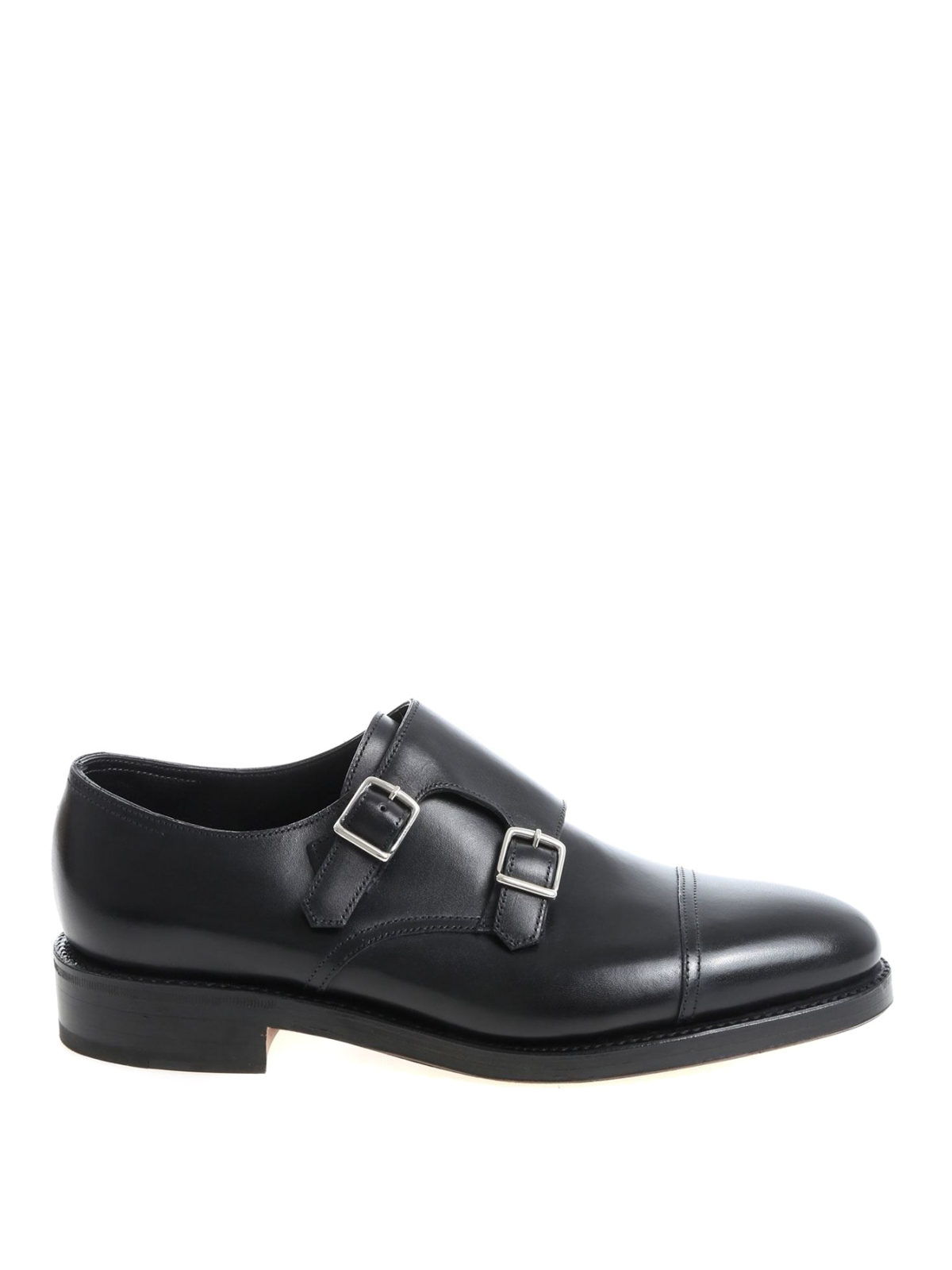 John Lobb WILLIAM CALF MONK STRAPS