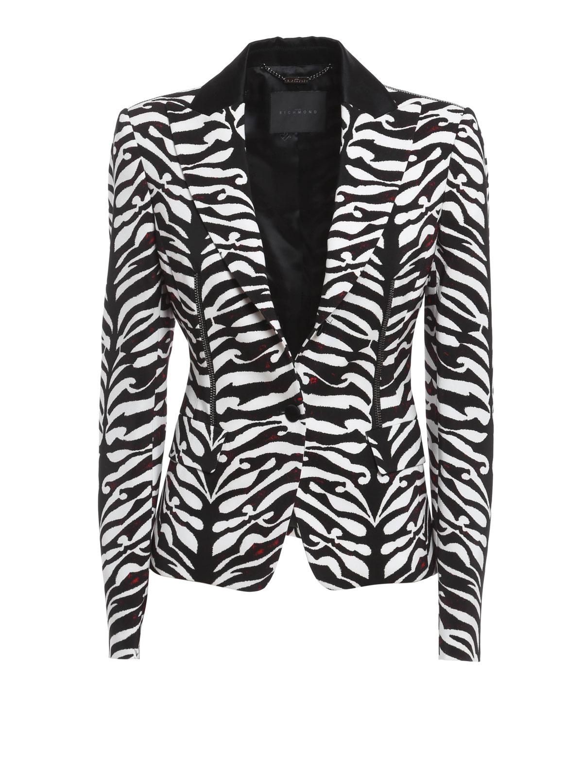 John Richmond Zebra Print Blazer Blazers 152f2 1051