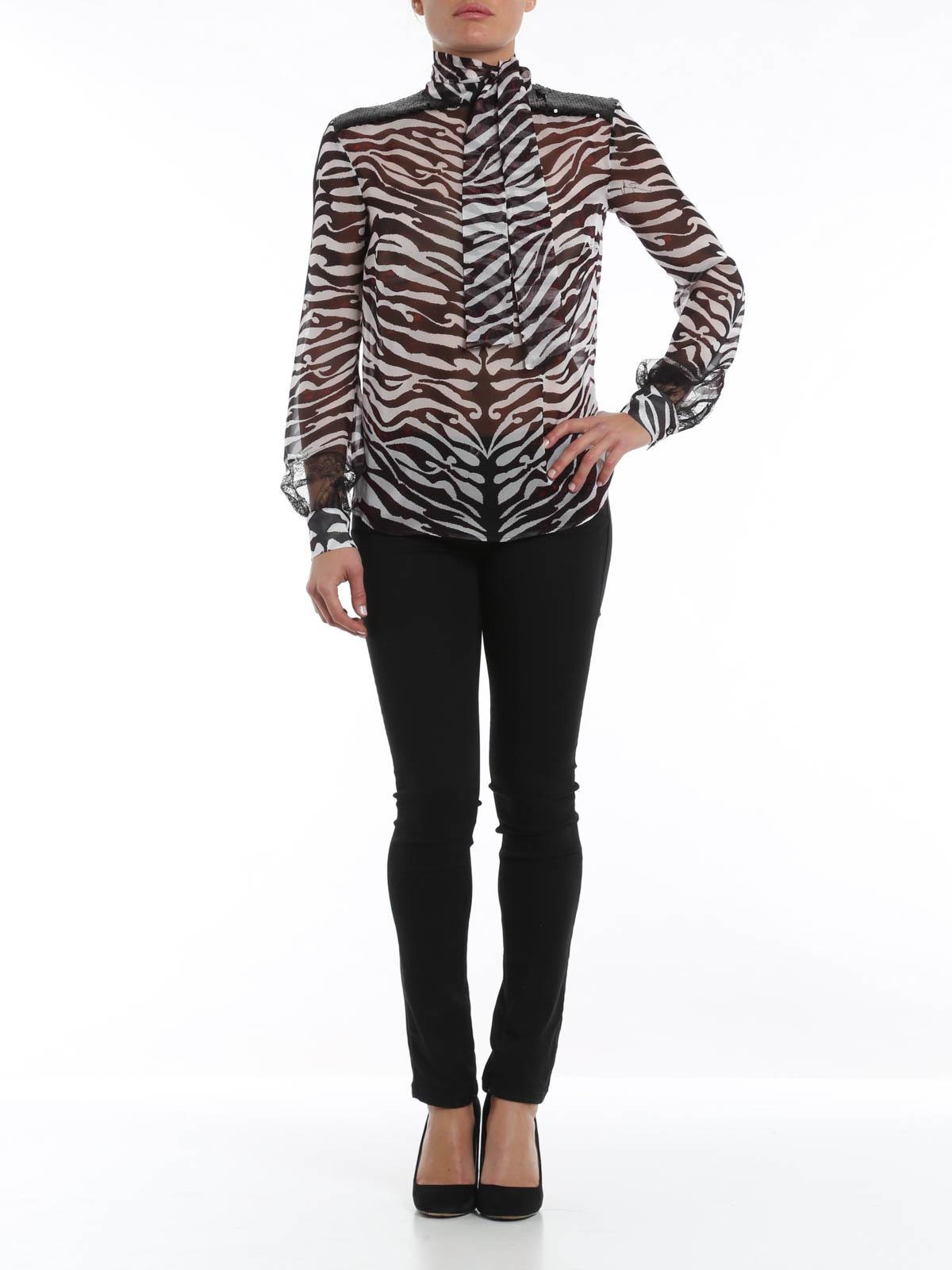 Zebra Print Blouse 74