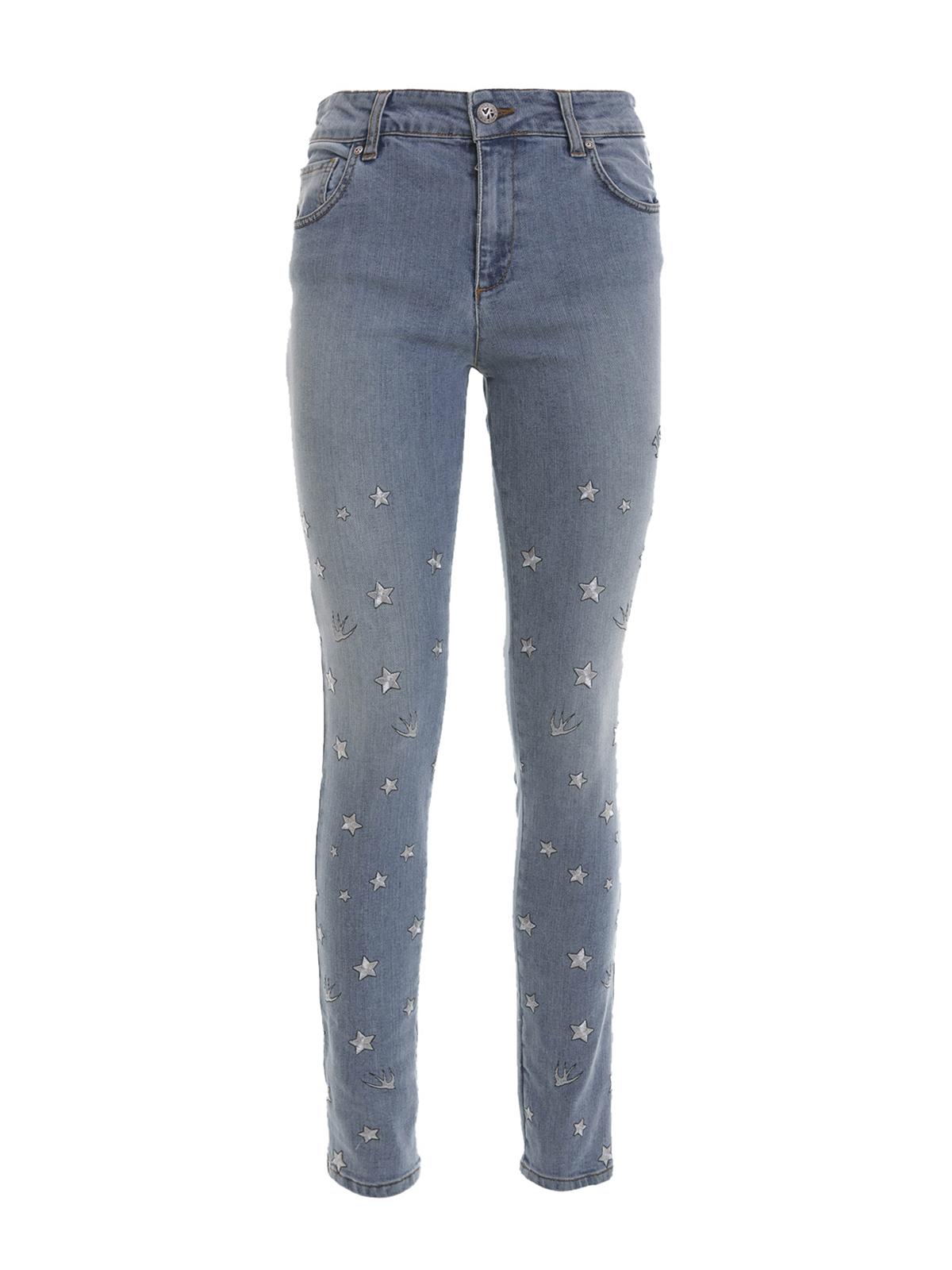 Embroidered Stars Jeans By John Richmond - Skinny Jeans | IKRIX