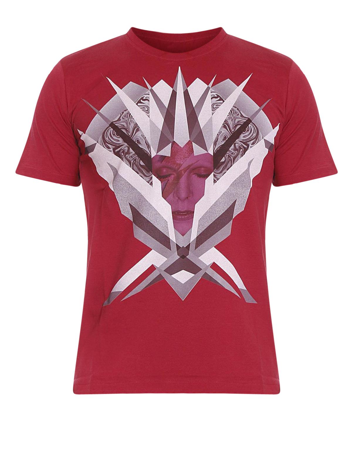 David bowie printed cotton t shirt by john richmond t for Richmond t shirt printing