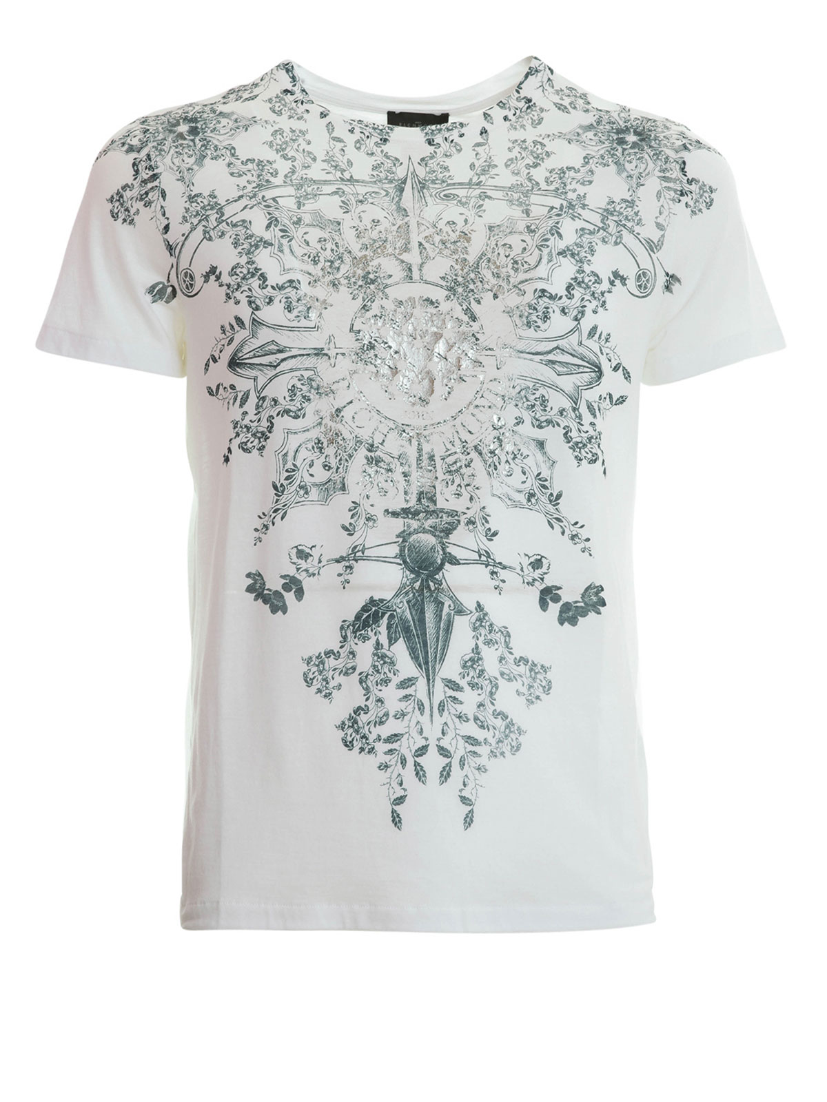 pattern print t shirt by john richmond t shirts shop
