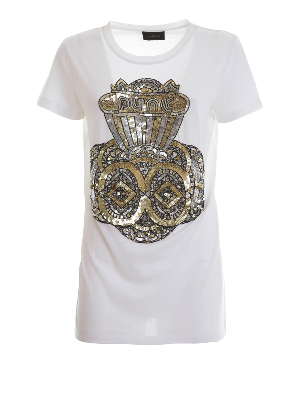 sequin t shirt by john richmond t shirts ikrix. Black Bedroom Furniture Sets. Home Design Ideas