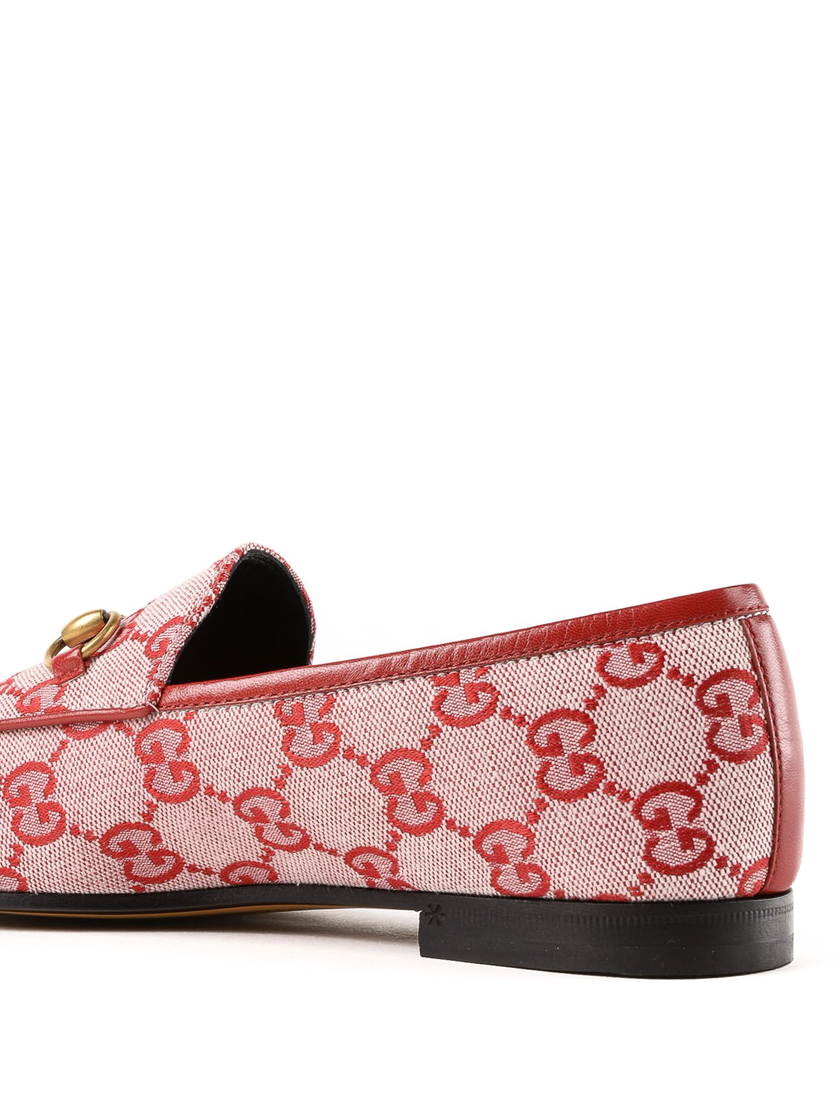 5f98076a5969 Gucci - Jordaan GG hibiscus red canvas loafer - Loafers & Slippers ...