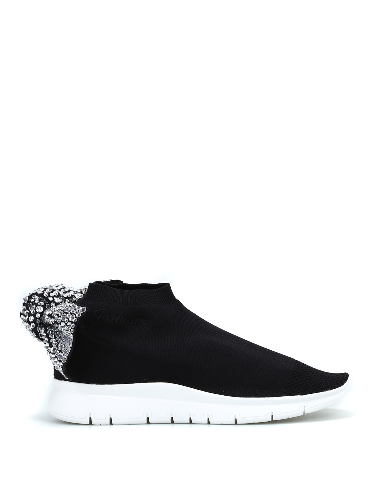 buy cheap Inexpensive Joshua Sanders Black Crystal Bow Sock Sneakers choice free shipping perfect extremely sale online 8FHQkw