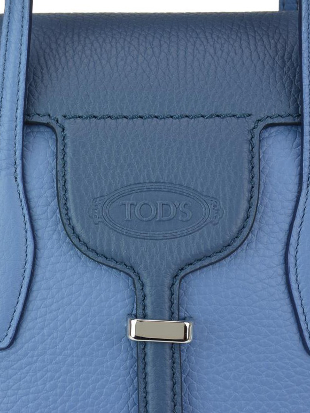 bb304c75a Tod'S - Joy two tone blue grainy leather mini tote - bowling bags ...
