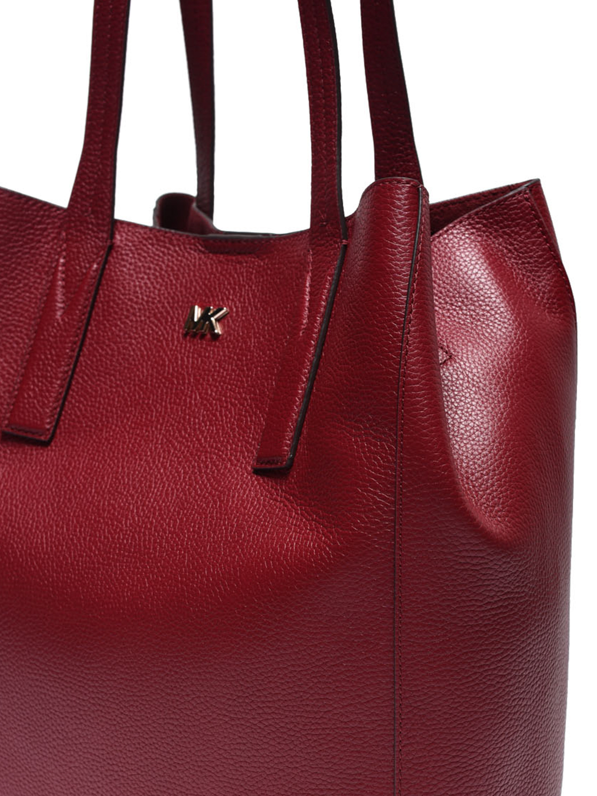 a15701619e9a0a Junie maroon leather large tote shop online: MICHAEL KORS. MICHAEL KORS: totes  bags ...