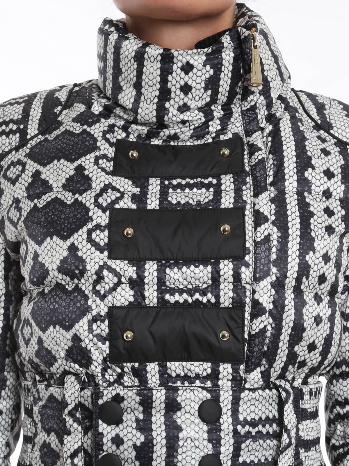detailed look f5730 1295b Just Cavalli - Piumino con stampa serpente - giacche ...