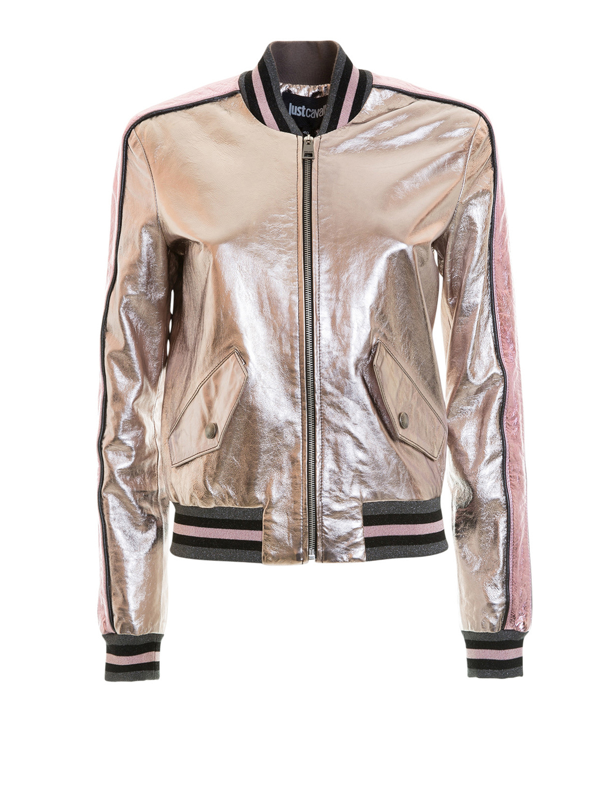 metallic leather bomber jacket by just cavalli leather jacket ikrix. Black Bedroom Furniture Sets. Home Design Ideas