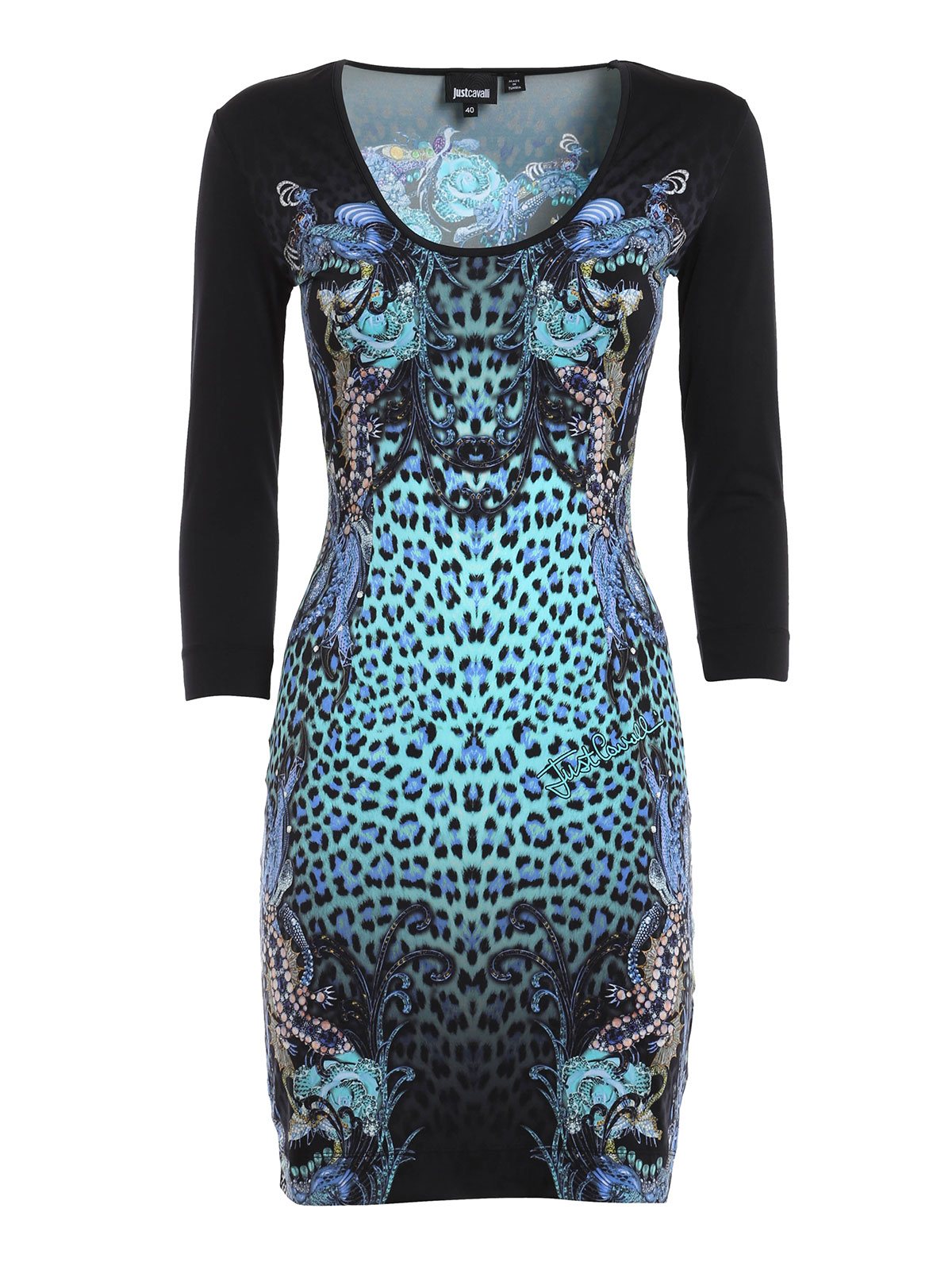 animal print sheath dress by just cavalli short dresses ikrix. Black Bedroom Furniture Sets. Home Design Ideas