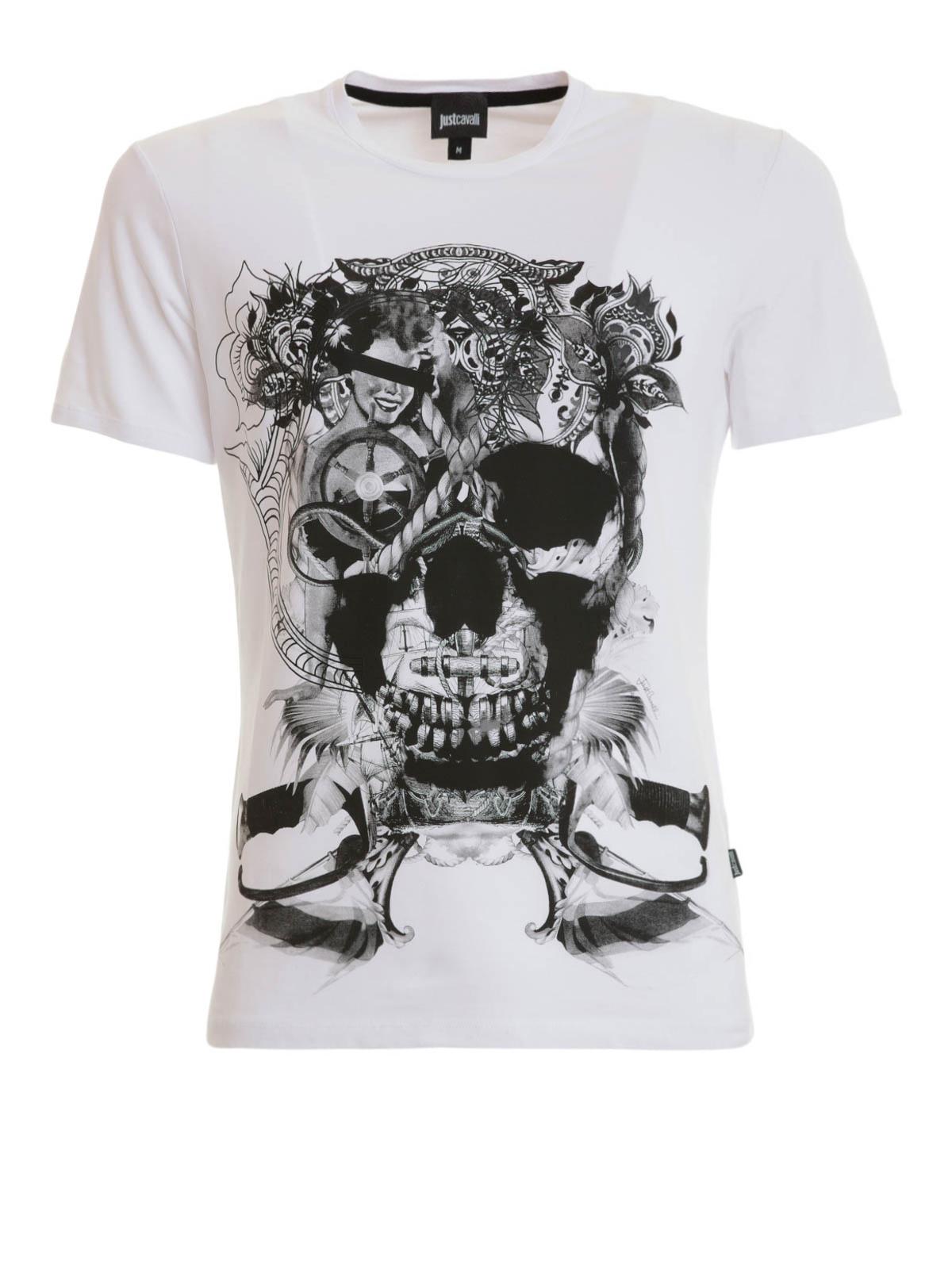 skull print t shirt by just cavalli t shirts ikrix