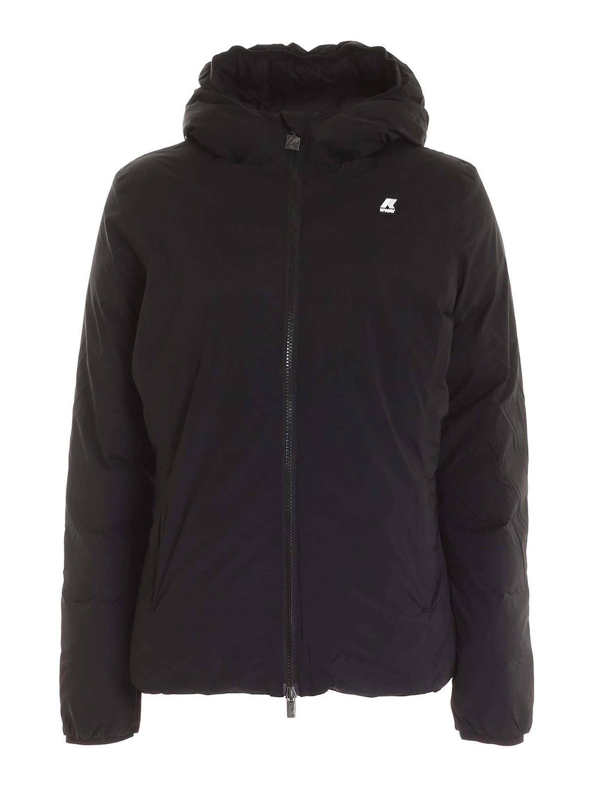 K-Way LILY THERMO STRETCH JACKET IN BLACK