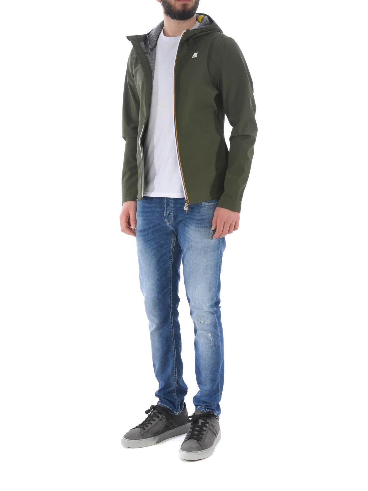 usine authentique chaussures de course se connecter K-way - Jack Bonded army green jacket - casual jackets - K007LV0 576