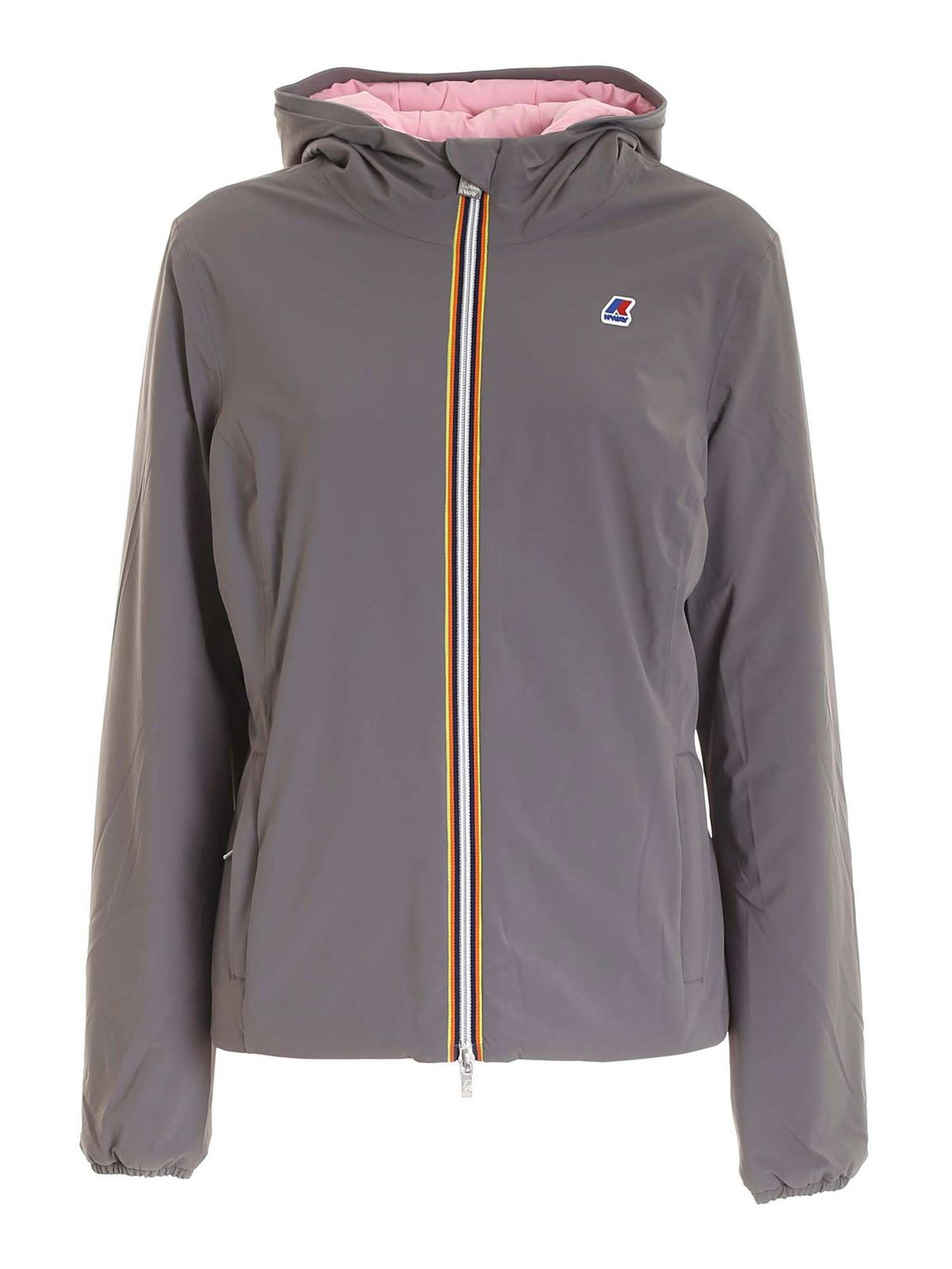 K-Way LILY WARM DOUBLE PUFFER JACKET IN GREY
