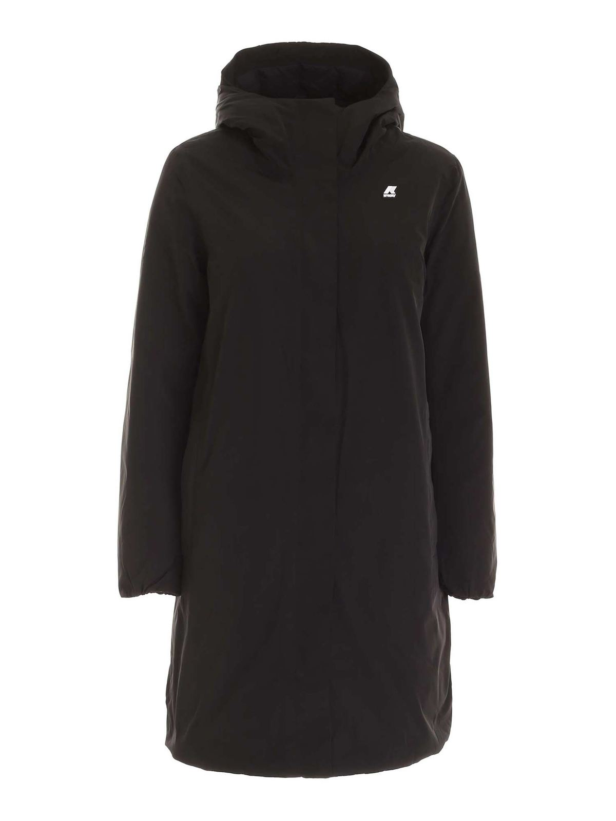 K-Way STEPHANE THERMO SATEEN PARKA IN BLACK