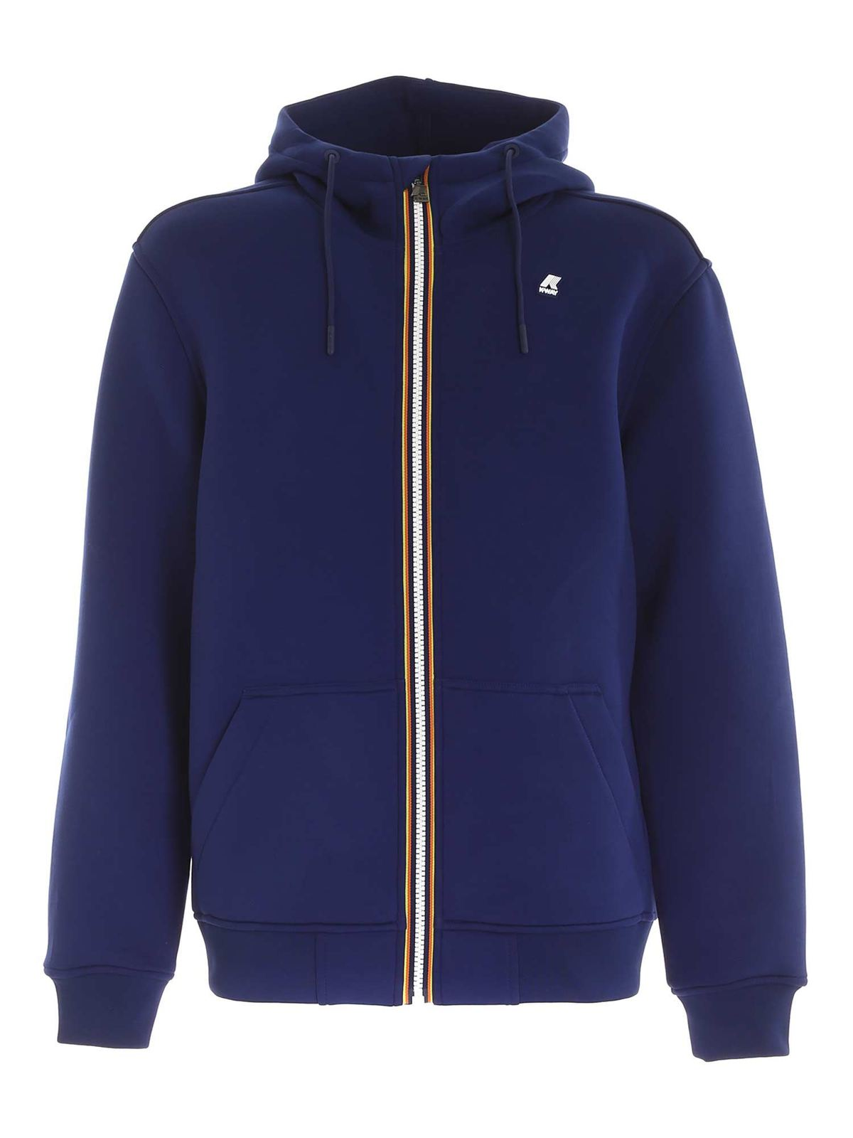 K-WAY BERENGER SPACER HOODIE IN BLUE
