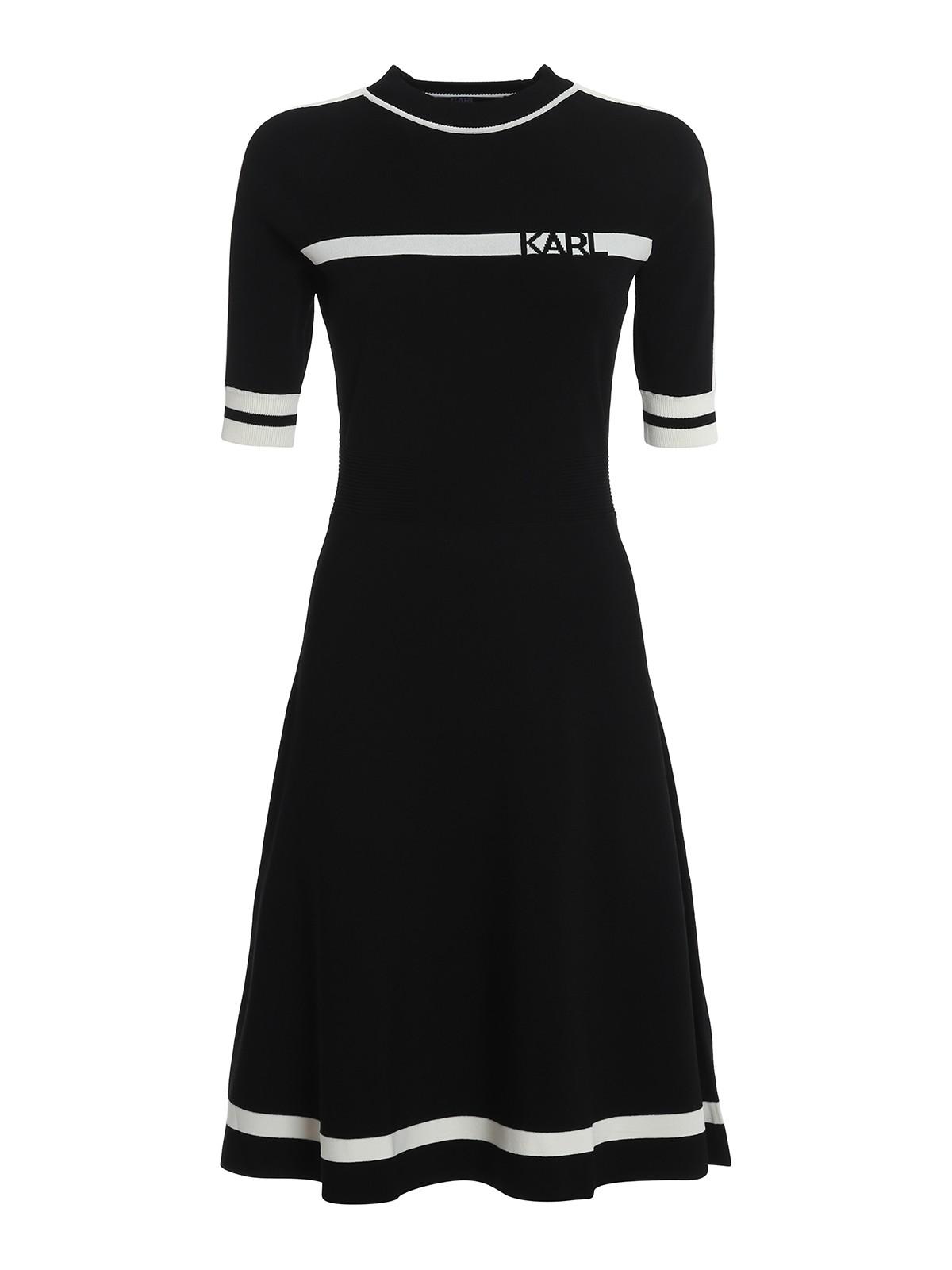 Knielanges Kleid - Schwarz
