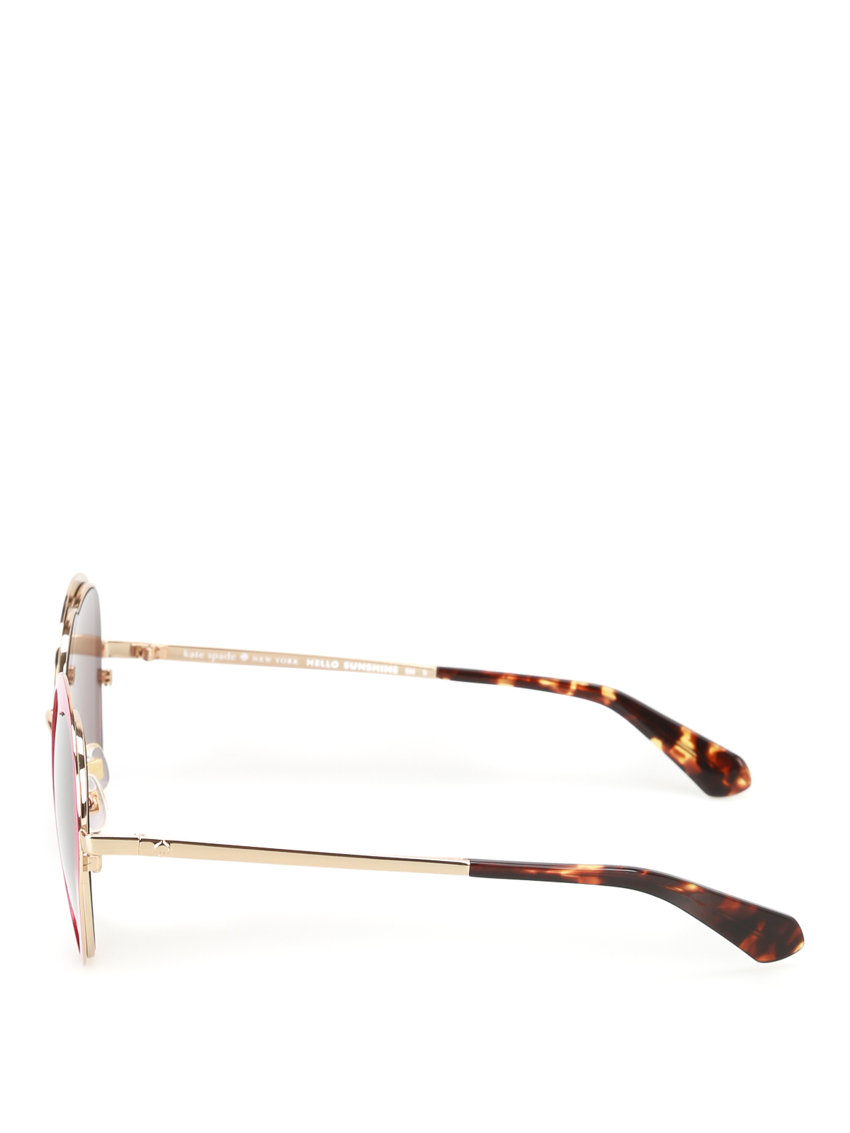 9099d78ac0f2 KATE SPADE: sunglasses online - Rosaria heart-shaped red sunglasses