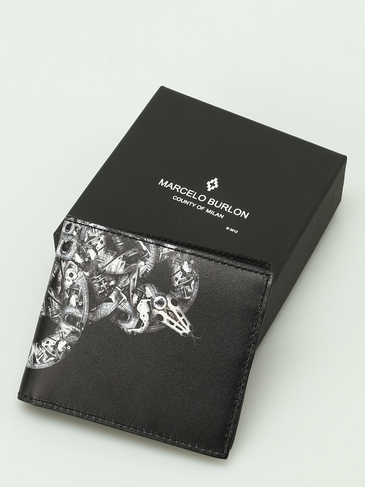 foto ufficiali 011d7 cadd5 Marcelo Burlon - Portafoglio Ke Wallet in pelle - portafogli ...