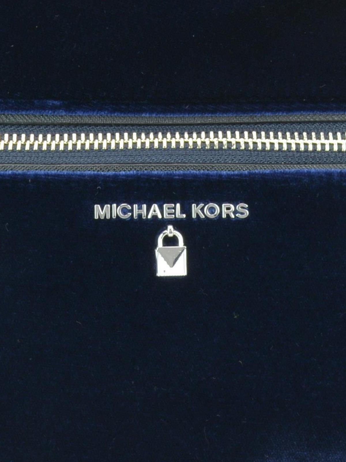 d2fbbd97565b Michael Kors - Kelsey blue velvet large backpack - backpacks ...
