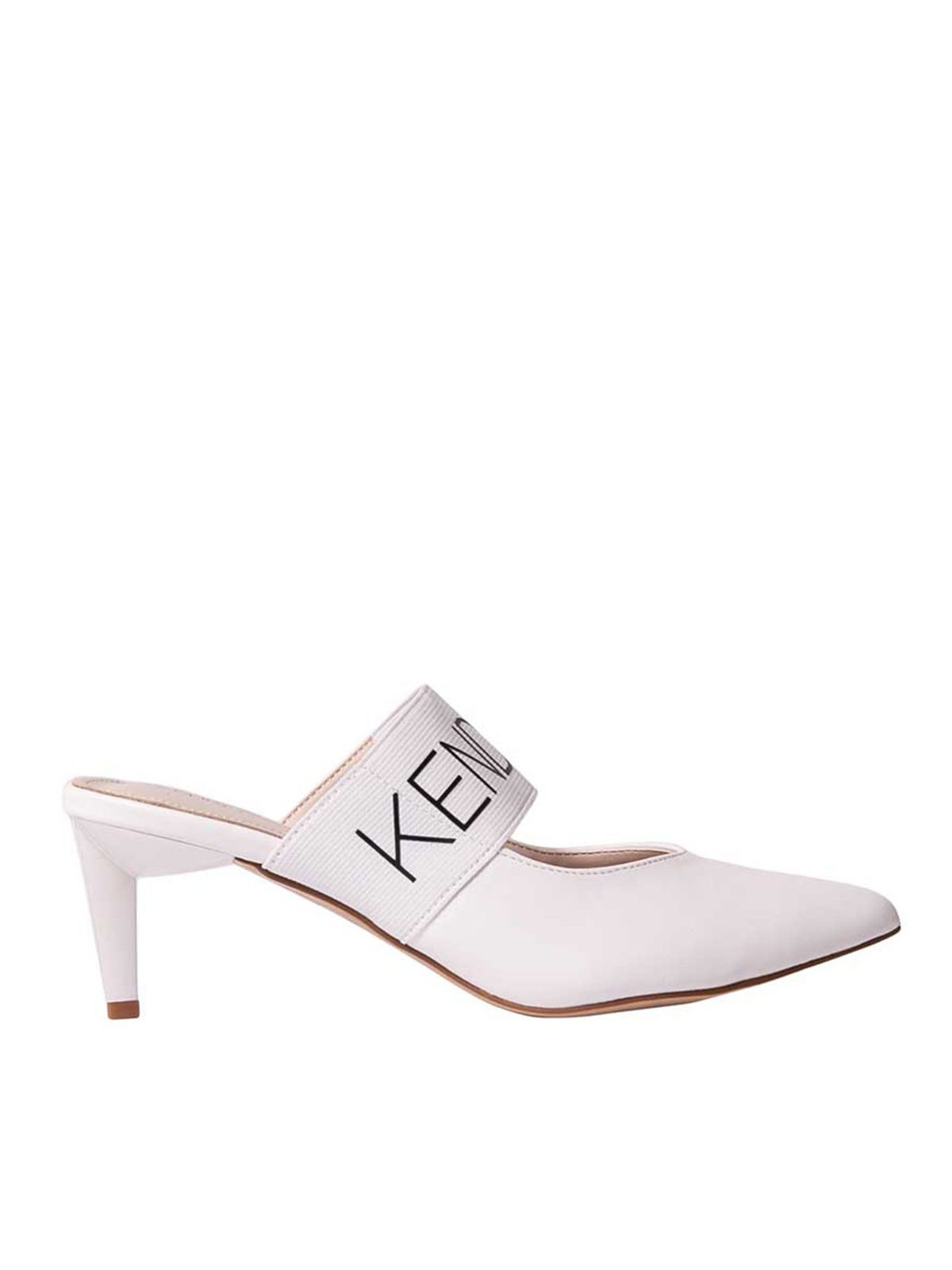 Kendall + Kylie LACEY MULES IN WHITE