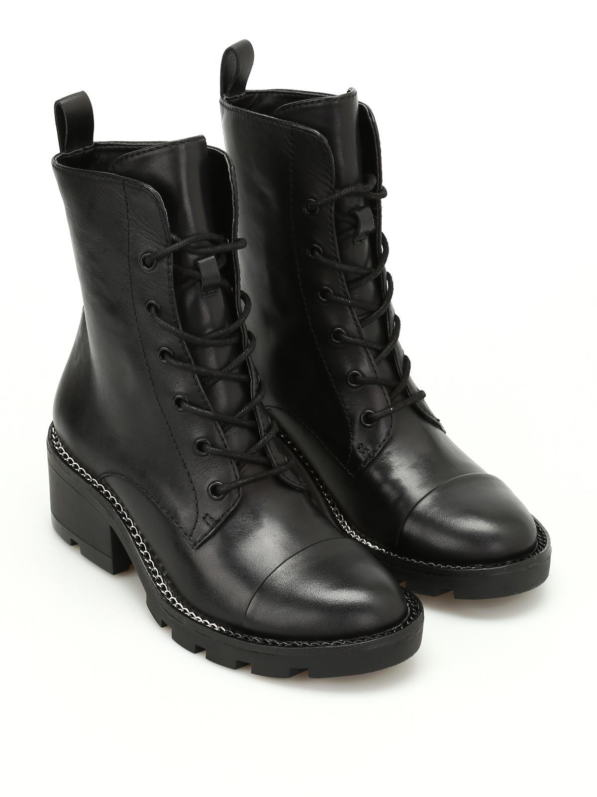 Park leather combat boots - ankle boots