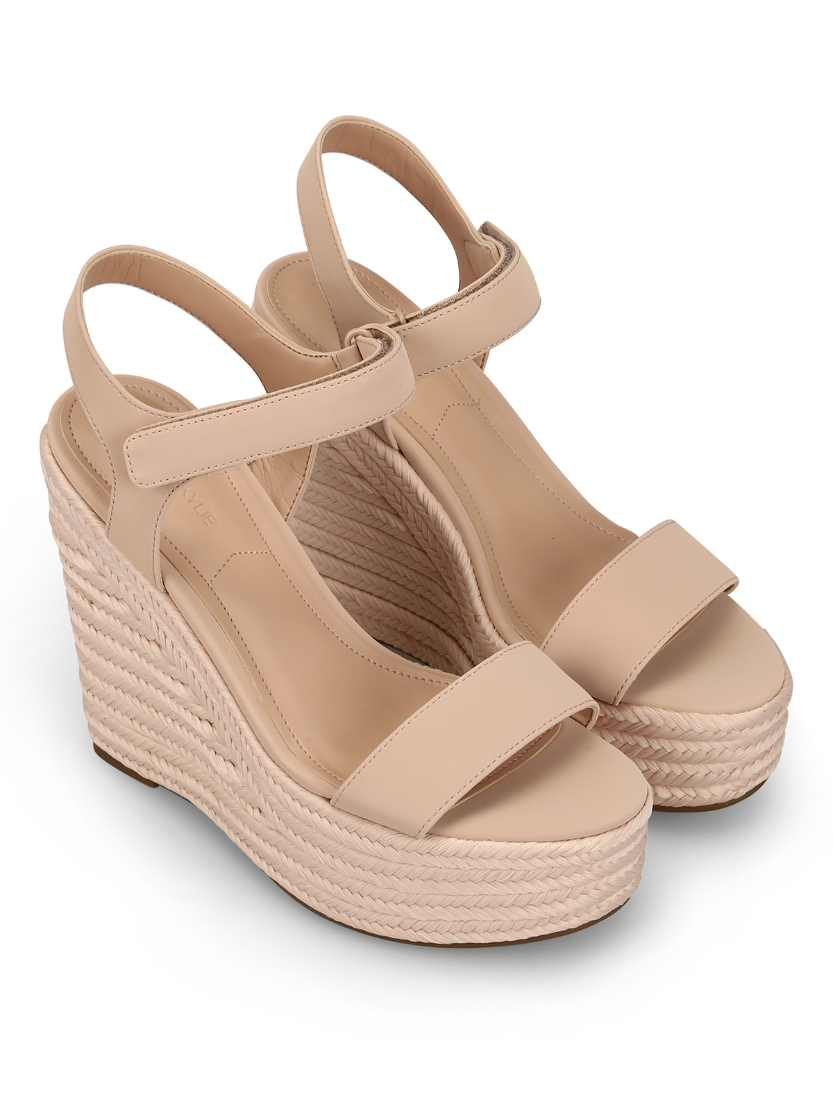 1ce8129e77 Kendall + Kylie: sandals online - Grand pink leather wedge sandals