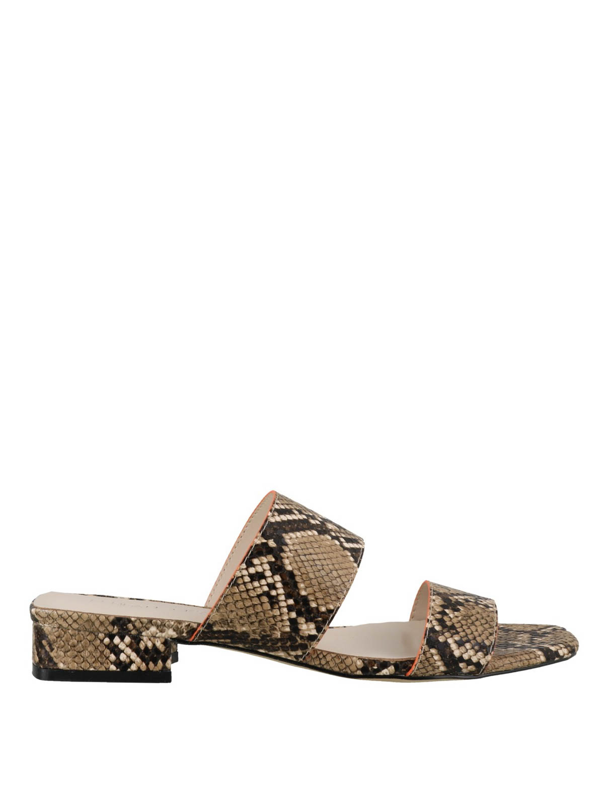 Kendall + Kylie KAHLIE SNAKE PRINTED LEATHER SANDALS