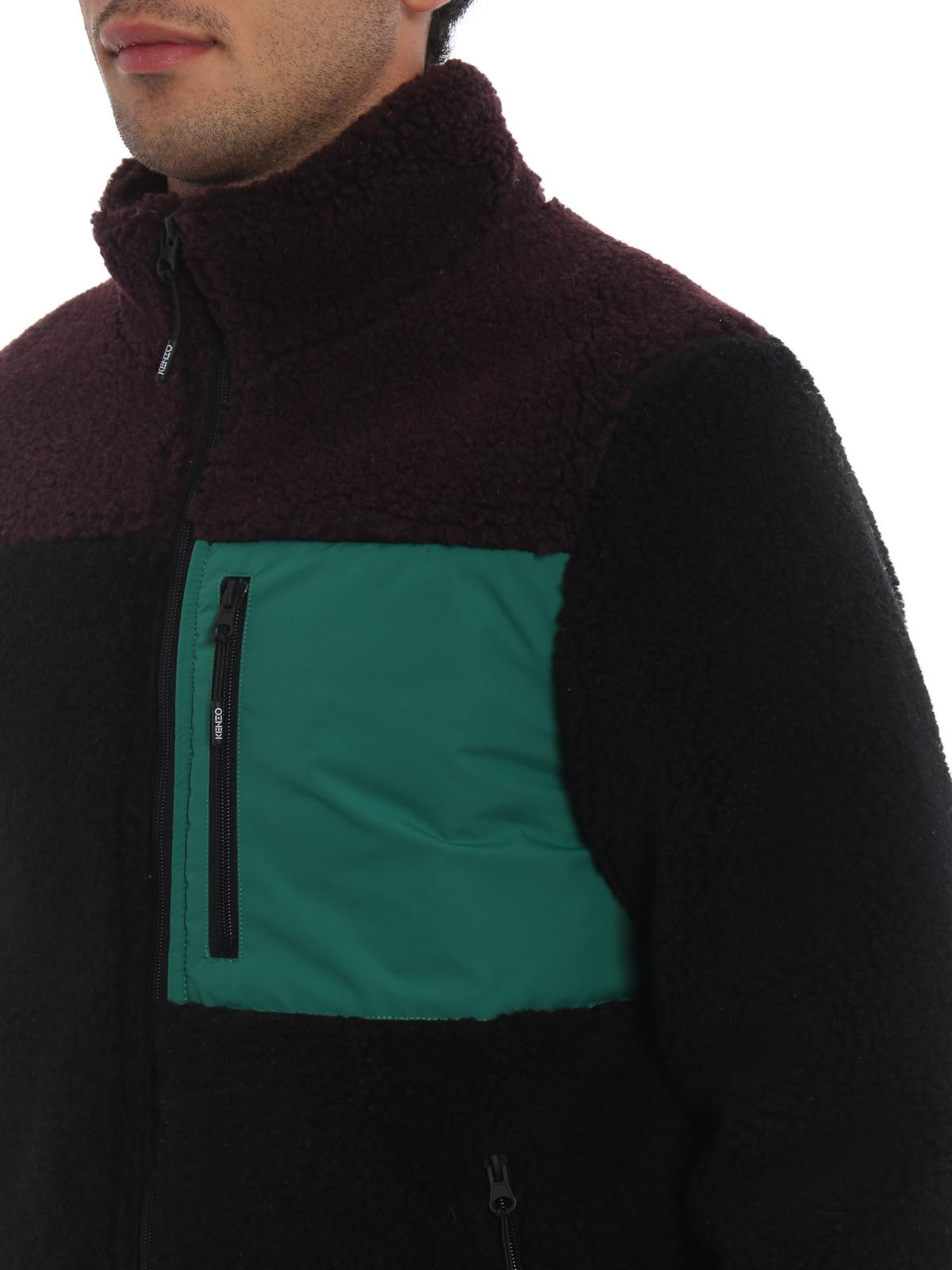 eb3cbb933e Kenzo - Colour block shearling effect jacket - casual jackets ...