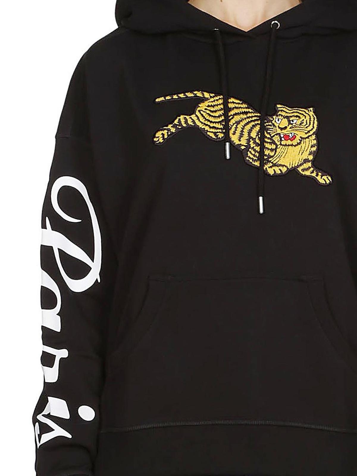 12ddcd1fc Kenzo - Jumping Tiger wool blend hoodie - Sweatshirts & Sweaters ...