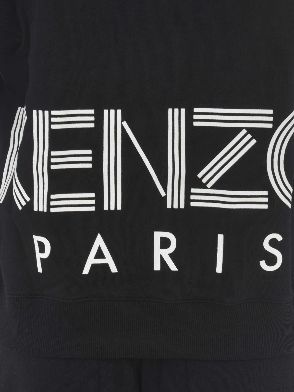Felpa Kenzo a girocollo con maxi logo Kenzo Paris