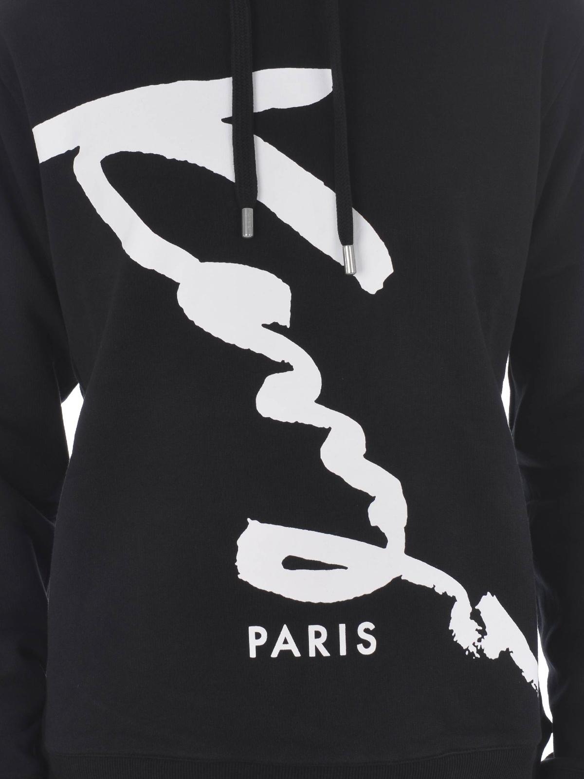 felpa kenzo saldi online, Uomo Felpe Kenzo Felpa Paris Black
