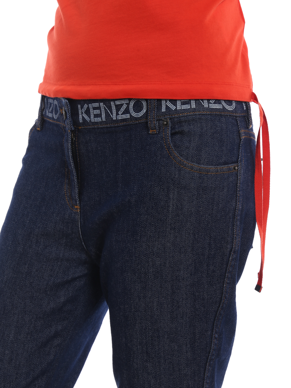 a91dbda7 Kenzo - Logo print skinny jeans - skinny jeans - F852PA2506EG 78