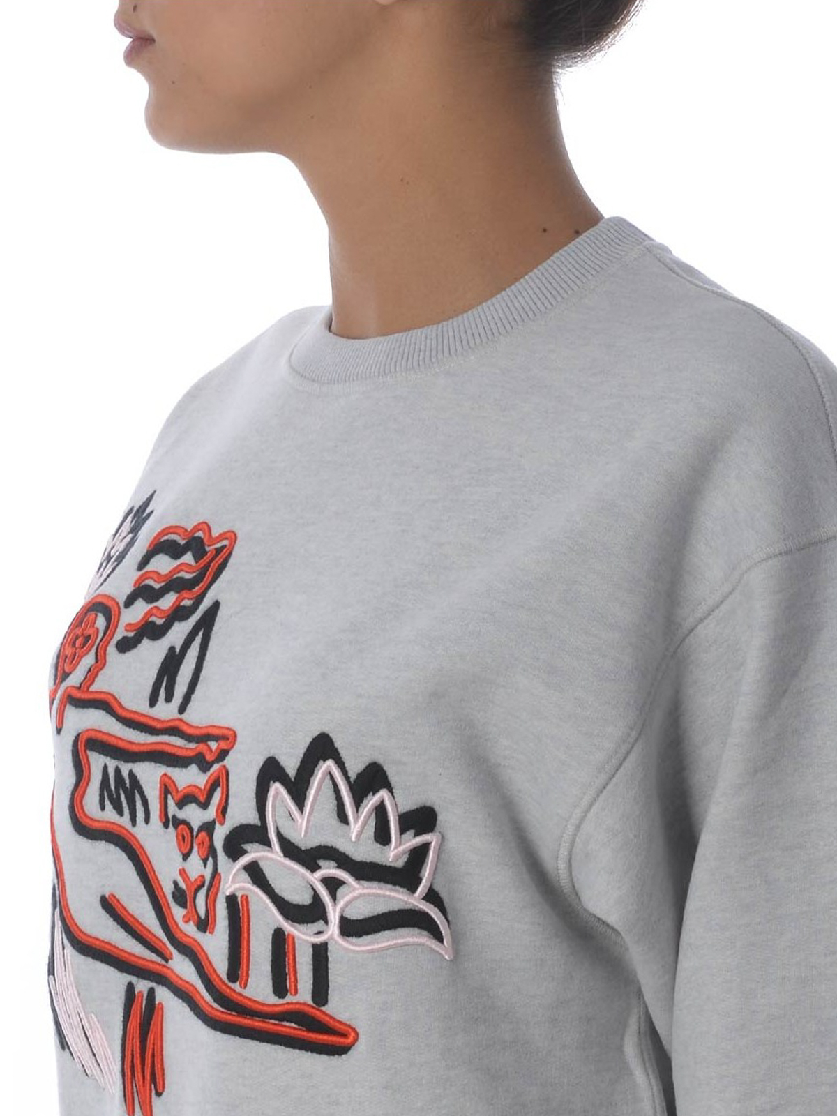 Kenzo Felpa in cotone con ricami Sketch Felpe e maglie